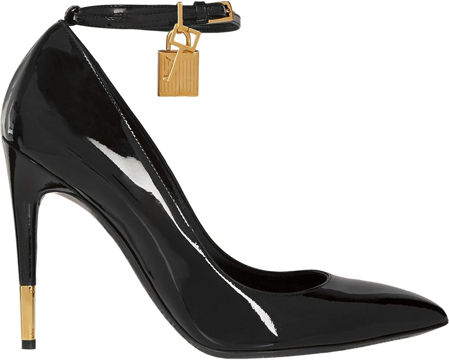 TDA Women's Pointed Toe Single-Strap Patent Leather Evening Party Dress Stiletto Pumps