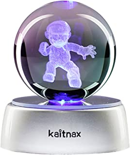 kaitnax 3D Laser Etched Crystal Ball(50mm) Puzzle with LED Base (Mario)