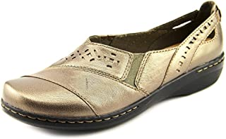 clarks women's evianna fig slip on shoes