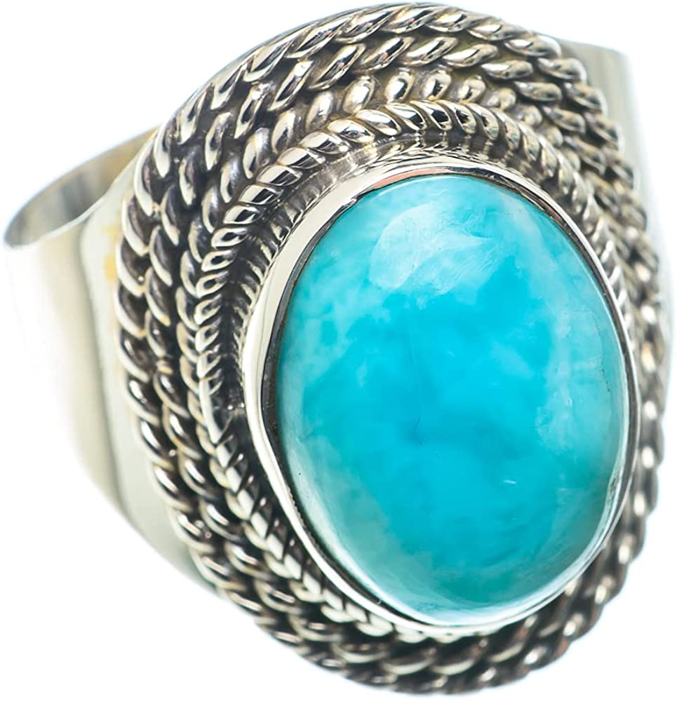 Ana Silver Co Fashionable Larimar Beauty products Ring Size 925 - Sterling 8.5 Hand