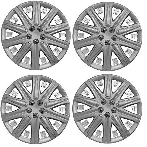 Wing Mirrors World KIA PICANTO Auto Radzierblenden Radkappen Kunststoff Abdeckungen Boston 13 Zoll Silber