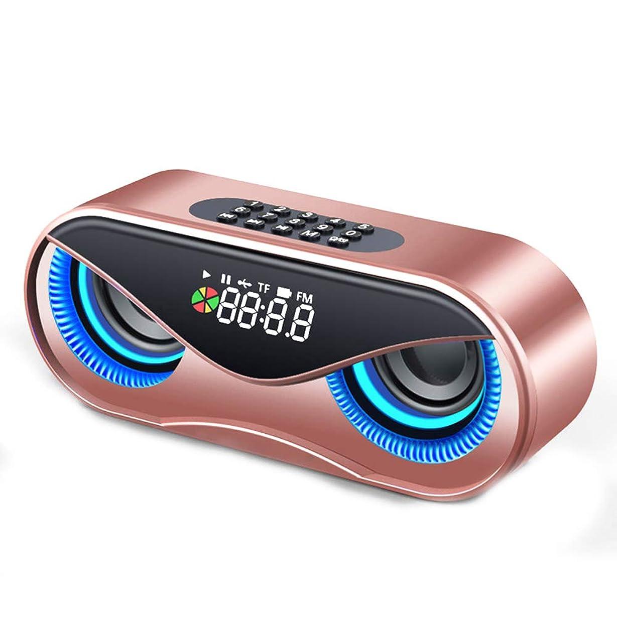 ペルーナプキン千Yimoer ポータブル スピーカー ラウドスピーカー 高音質 割に合う製品でござる Bluetoothスピーカー フクロウBluetoothスピーカー ダブルスピーカー 目覚まし時計 ミニステレオスピーカー ホーム ベッドルーム オフィス レトロな無線通信スピーカーラジオ形状ヴィンテージミニかわいいスピーカー新しい