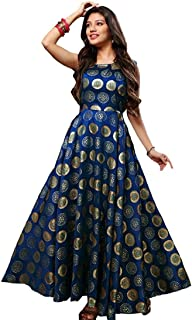 Women's And Girl's Taffeta Silk fabric ethnic gown By NYK NX Fashion/Oneness Collection