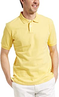 ACOTOP Men's Pure Cotton Classic Solid Short Sleeve Polo Shirt