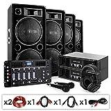 "DJ Set sonoro""Bass First Pro Bluetooth"" 2 x Amplificatori 4 x Casse 4000W"