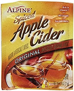 Alpine Spiced Apple Cider Drink Mix, Original, 0.74 oz, 60 count