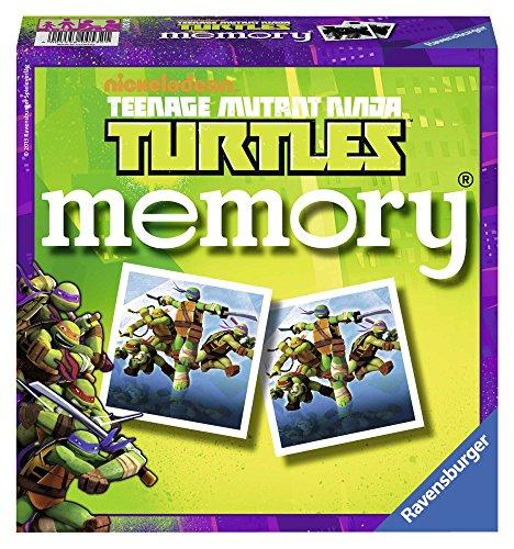 Ravensburger–22229–Spiel-Gesellschaft Lernspiel–GD Memory Ninja Turtles