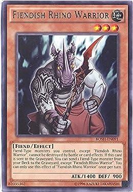 Yu-Gi-Oh! - Fiendish Rhino Warrior (BOSH-EN091) - Breakers of Shadow - Unlimited Edition - Rare