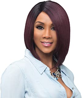 Vivica A Fox Usha Synthetic Heat Resistant Fiber Natural Baby Hair Lace Front Wig, GM4/30/27, 9.3 Ounce
