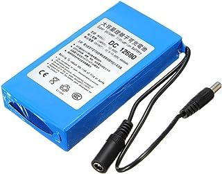Eleoption リチウムバッテリー リチウムイオン充電池 充電式電池 大容量 電池 DC 12V 6800mAh