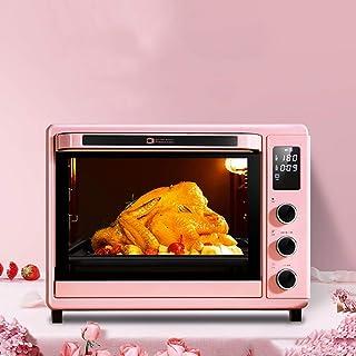 QJJML Horno Pizza, Torta CoccióN MultifuncióN Totalmente AutomáTica, Horno FermentacióN ElectróNico con Temperatura Controlada, Horquilla Giratoria 360 °, Pantalla Digital Inteligente para,32L