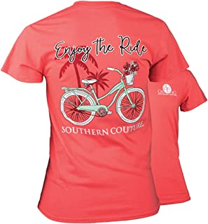 SC Classic Enjoy The Ride Womens Classic Fit T-Shirt - Coral Silk