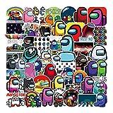 WayOuter Pegatinas Among Us 100 Uds, Calcomanías de Graffiti Impermeables de Anime para portátil, monopatín, Pegatina Impermeable para Coche