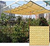 KANULAN Ausziehbare Sonnensegel Terrasse Schatten Tuch Balkon Sichtschutz Zaun Cool Down Shade 96% Beschattung Rate 250GSM Anti-Ultraviolett Schwimmbadüberdachung(Color:Yellow;Size:1.8x2m)