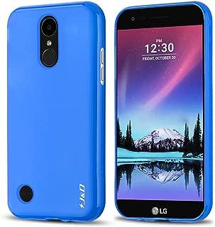J&D Case Compatible for LG K10 2017/LG K20 V/LG K20 Plus/LG V5/LG Grace L59BL Case, [Drop Protection] [Slim Cushion] Shock Resistant Protective TPU Slim Case for LG K10 2017 Bumper Case - Blue
