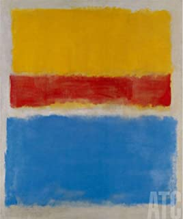 ArtToCanvas 17W x 21H inches : Untitled Yellow Red and Blue by Mark Rothko - Framed Canvas
