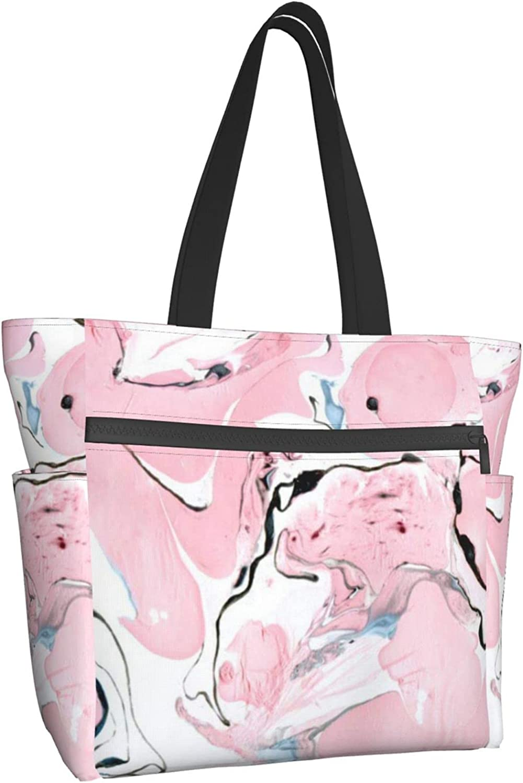 Women Tote Save money Bag Aesthetic Pink Handbag Lar Liquid Marble It is very popular Shoulder