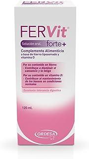 Ordesa Fervit Forte Solución Oral - 120 ml Complemento alimenticio para niños a base de hierro y vitaminas - 5ml al día