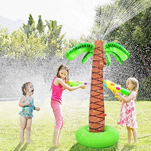 WZM Piscina Juguete de Rociadores de Agua Inflable Jardín al Aire Libre Césped en la Playa Árbol de Coco Aerosol de Agua Juguete Niños Tumbonas