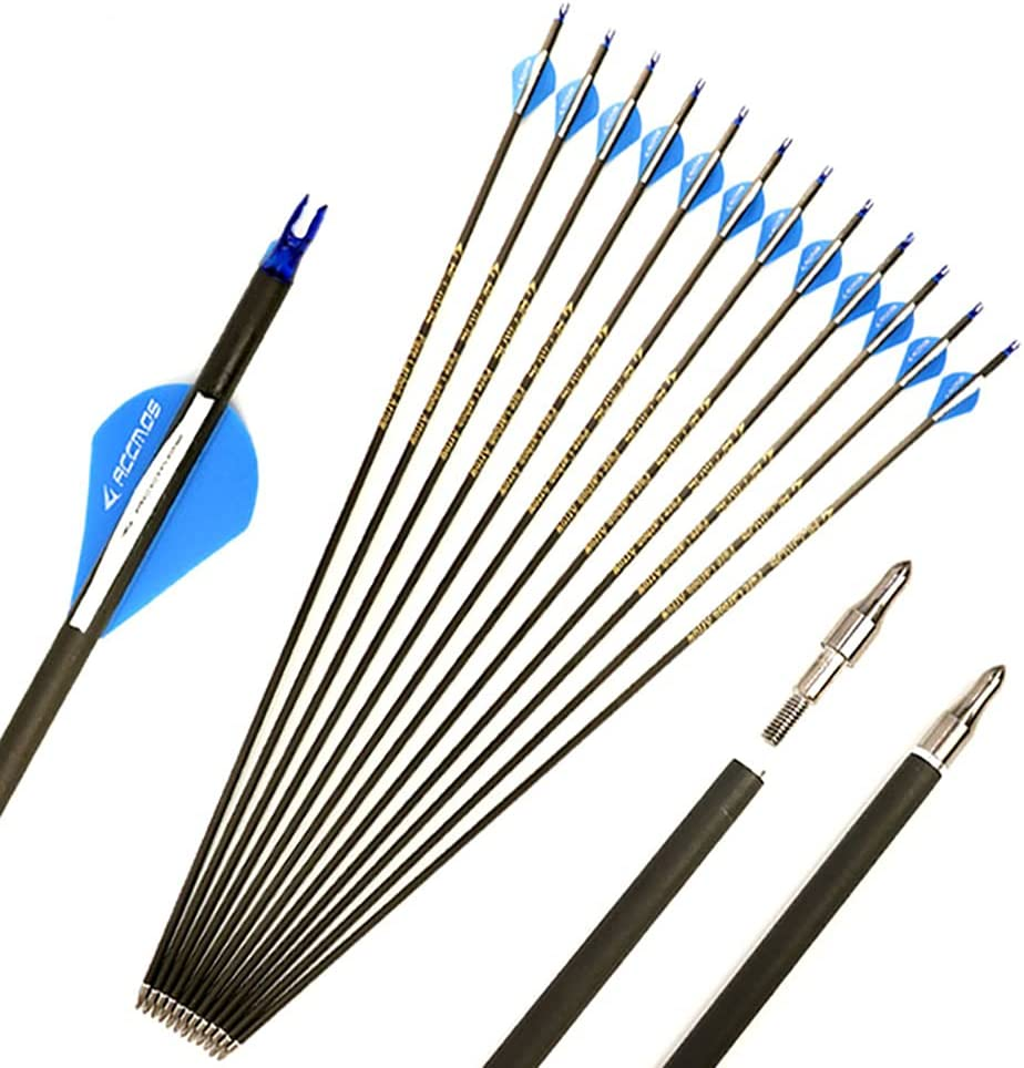 12pc Fort Worth Mall Carbon Arrows for 20-85 High quality new Lb Cust Compound .244