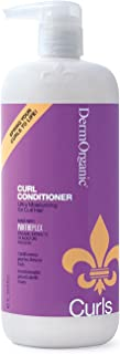 DermOrganic Curl Conditioner - Ultra Moisturizing for Curly Hair, 33.8 fl.oz.