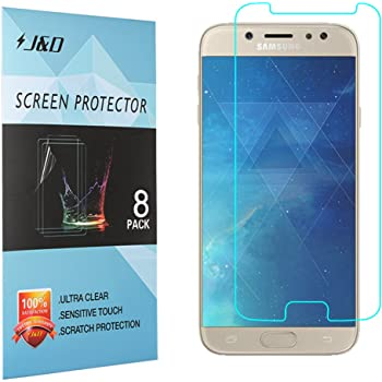 J&D Compatible para 8 Paquetes Galaxy J7 2017 Protector de ...