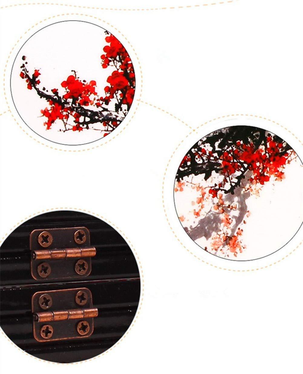Bella Mini Pantalla Plegable De Madera Screen Art Byobu Separador de Espacios Plegable Decoración de la Mesa Estilo Chino Pinturas Flor del Ciruelo con Regalo Box: Amazon.es: Hogar