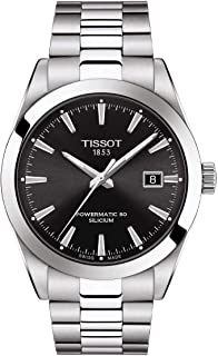 Tissot mens Gentleman Stainless Steel Dress Watch Grey T1274071105100