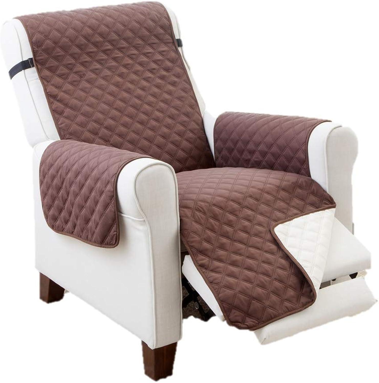 Elaine Karen Deluxe Reversible Recliner Furniture Predector, Coffee Tan 80 x 70