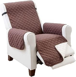 Elaine Karen Deluxe Reversible Recliner Furniture Protector, Coffee/Tan 80