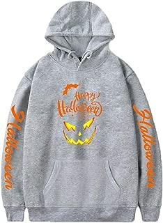 ANJUNIE Halloween Men's Printed Casual Pullover Slim Fit Long Sleeve Hoodies Top Sweatershirt Overcoat