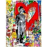 sjkkad Abstrakte Figur Leinwand Charlie Chaplin Moderne Pop