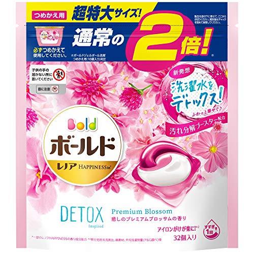 スマートマットライト ボールド 洗濯洗剤 ジェルボール 洗濯水をデトックス 癒しのプレミアムブロッサム 詰め替え 32個(約2倍)