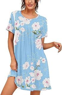 Womens Sleepwear Short Sleeve Nightgown Soft Sleepshirt...
