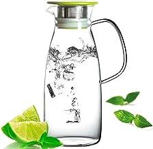 Czajnik ze szkła borokrzemowego o dużej pojemności – do soku herbacianego odporny na ciepło (kolor: niebieski1l)/ kod towa...