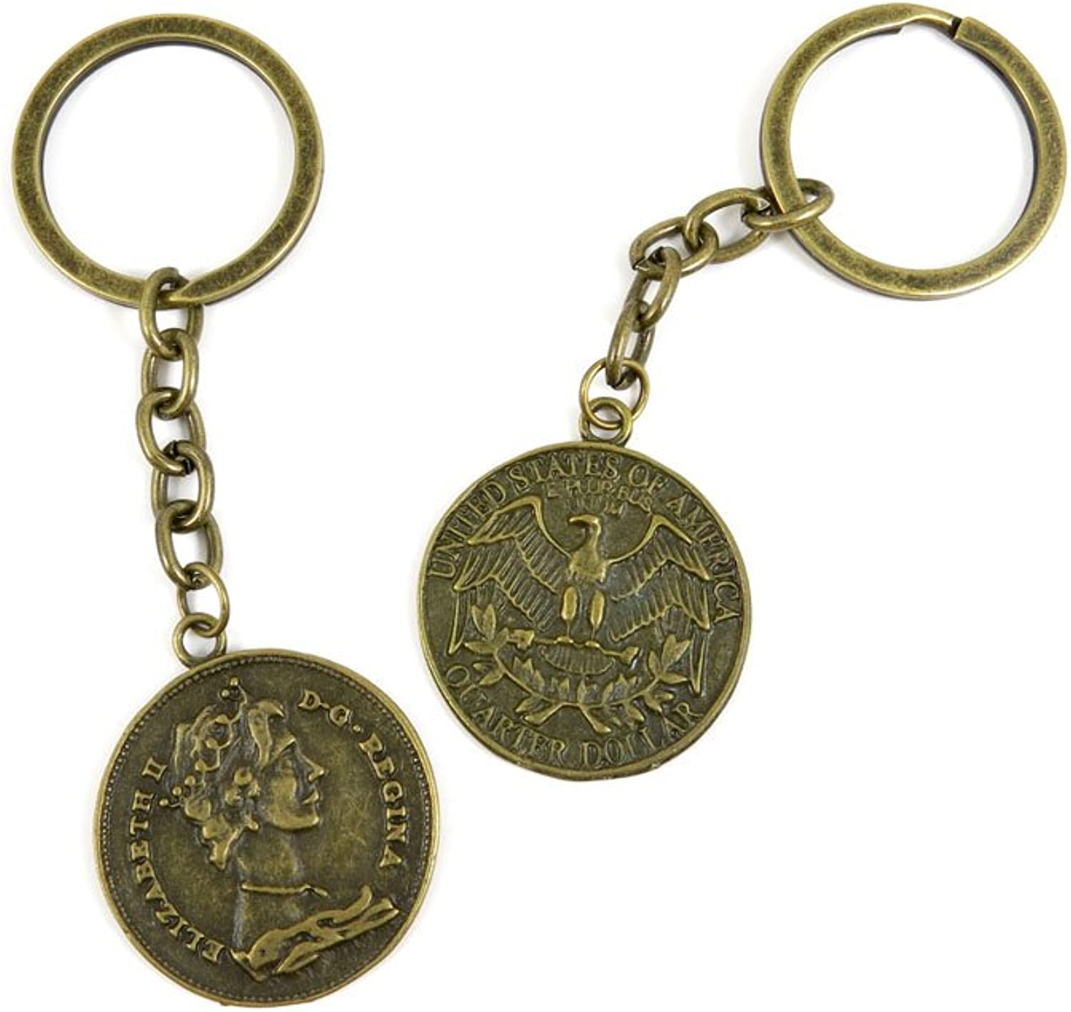 80 PCS Keyring Car Door Key Ring Tag Chain Keychain Wholesale Suppliers Charms Handmade P6JT2 US Dollar King Sign