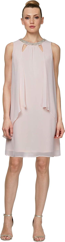 S.L. 大人気 新作からSALEアイテム等お得な商品 満載 Fashions Women's Sleeveless Cutout PearlNeck Dress