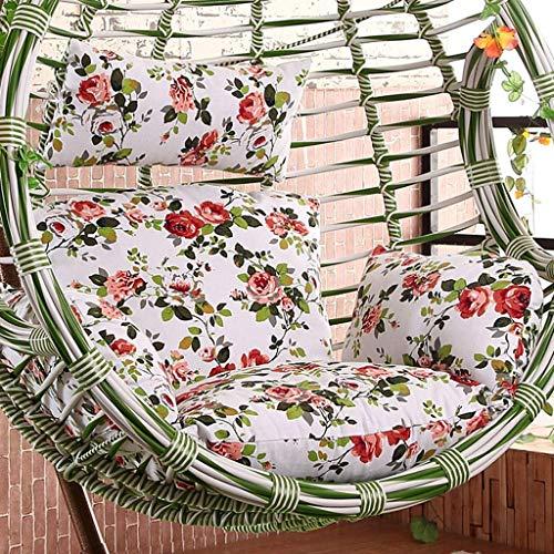 Mutmi Jardín Mecedora Rattan Hanging Yuany Terraza Presidente Dentro de Huevo Exterior Almohadas y Mantas, tamaño, 50 x 56 Pulgadas (de Color, A) (sin Silla),J