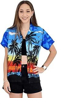 Island Style Clothing Ladies Palms Hawaiian Shirts Tropical Party Prints Unisex Cut