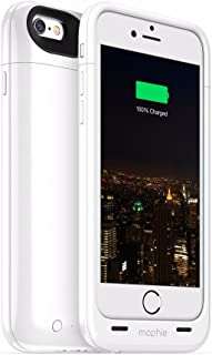 mophie Juice Pack Plus - Protective Mobile Battery Pack Case for iPhone 6/6s - White