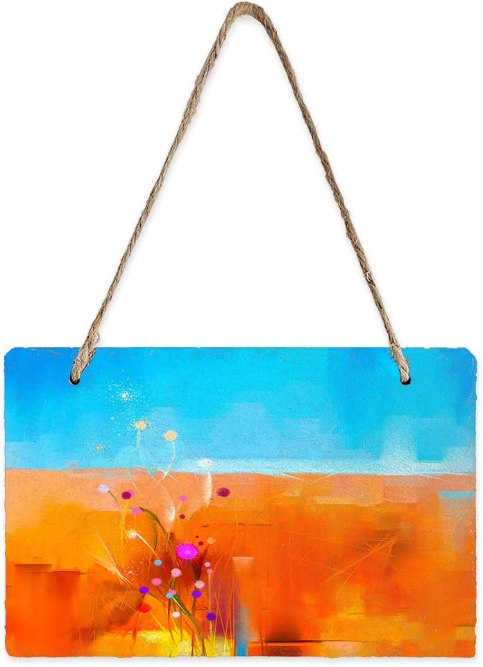 Libaoge Mini Slate Credence Hanging Sign Sided Pedi Wall Easy-to-use Rectangle Double