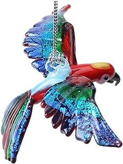 Dynasty Gallery Glassdelights Ornament or Figurine, Flying Macaw, Scarlet