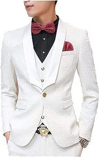 white skinny suit