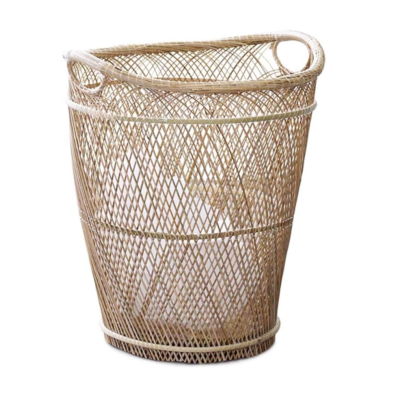 収納バスケット、手織りバスケット、ハンドルバスケット、2サイズ SMMRB (サイズ さいず : M m)
