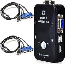 ONOGAL Switch KVM Conmutador 2 Puertos 2 PCs VGA y USB para Monitor Teclado y Raton 2379