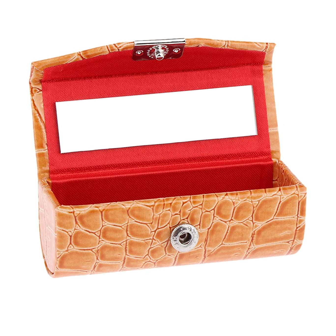 P Prettyia 口紅ケース コインケース 小物収納ケース プレゼント 多色選べ - オレンジ