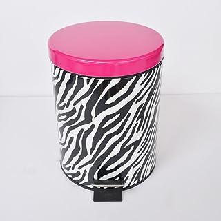 Poubelle à la maison Zebra Modern Waste Bin 5L Cuisine Chambre à déchets Poubelle en métal Pedal Rabbish Bin Poubelle comp...