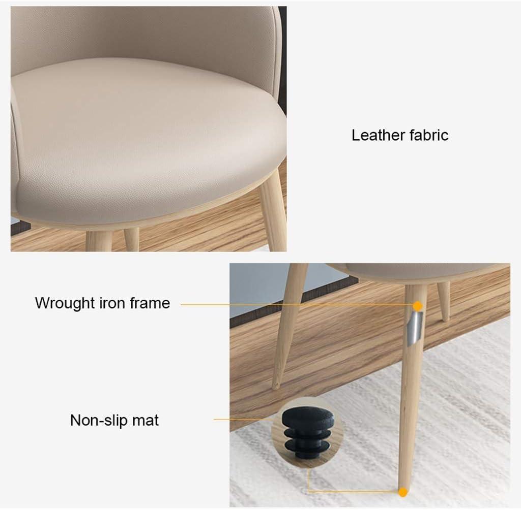 XXT Chaise de salle, Chaise de bureau simple, créative Dossier, Chaise Loisirs, Maison adulte Chaise de salle Durable (Color : Yellow) Dark Gray