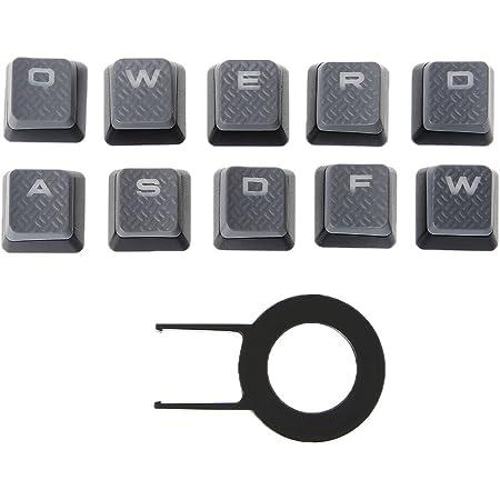 smallJUN 10Pcs / Pack Keycaps para Corsair K70 K65 K95 G710 RGB Strafe Teclado mecánico Conjunto de Teclas Gris