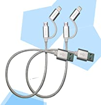 2 in 1 lightning and micro usb cable